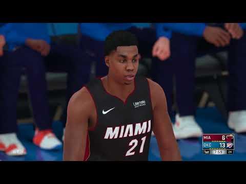 NBA 2K18 Miami Heat vs Oklahoma City Thunder
