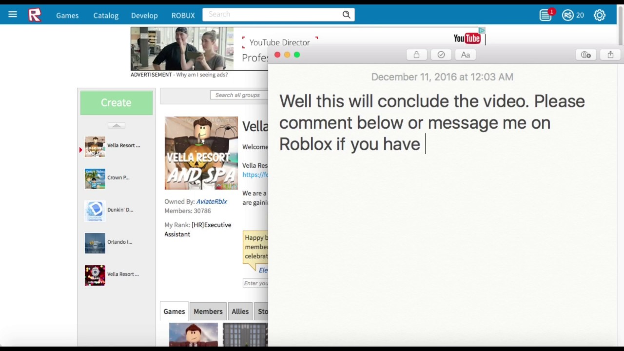 How To Use Group Admin On Roblox Youtube