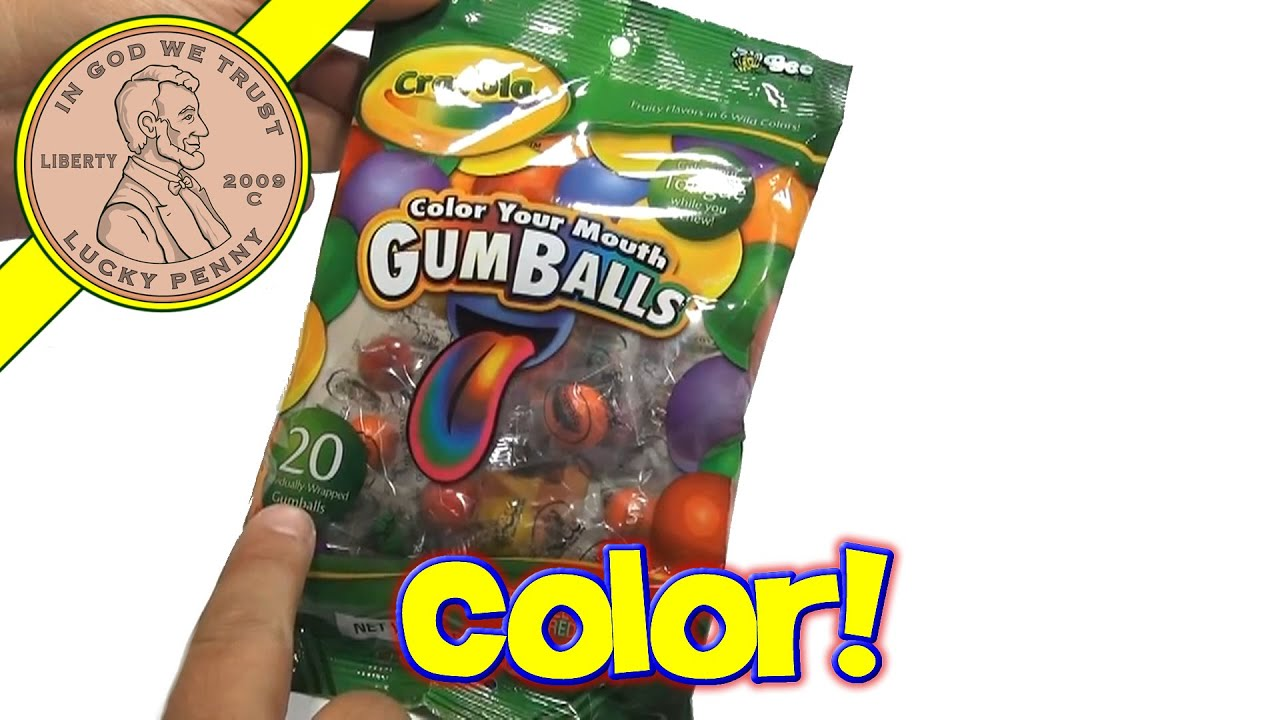 crayola color your mouth gumballs candy hallmark youtube