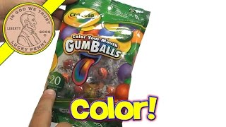 Crayola Color Your Mouth GumBalls Candy, Hallmark