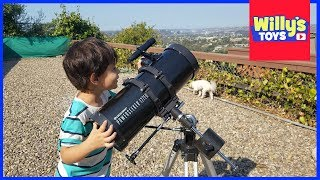 Celestron 127EQ PowerSeeker Telescope Unboxing and Review - The Solar System Book - Willy