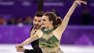 Gabriella Papadakis and her partner Guillaume Cizeron score well despite poorly functioning costumes