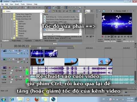 Hướng dẫn sử dụng Sony Vegas Pro 11