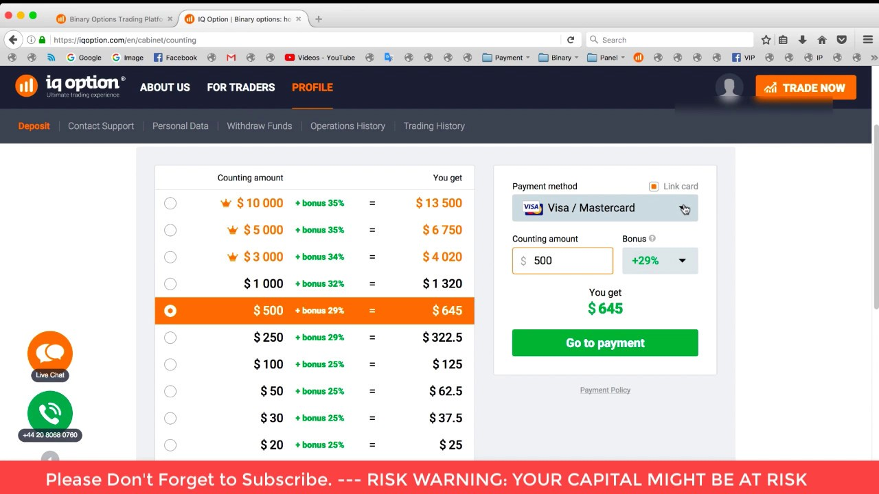 binary options brokers free demo account