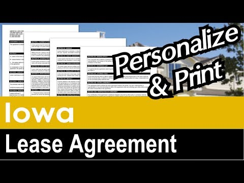 Iowa Lease Agreement for Rental Property