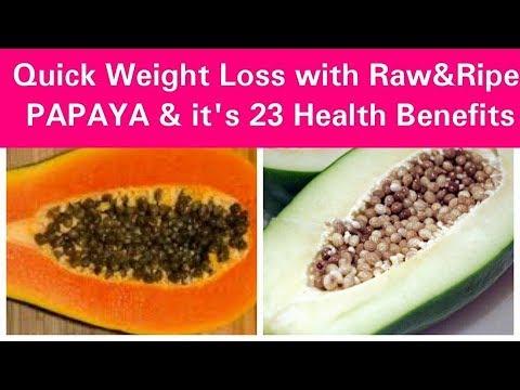 Papaya, चर्बी को तेज़ी से घटाएँ, Quick Weight loss with Papaya & 23 Health Benefits, Dr Shalini
