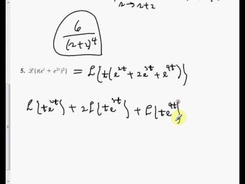 7 3 Laplace Transforms Operational Properties I Part 1 SP 17 - YouTube