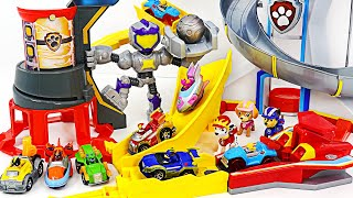 Paw Patrol Charged up Mighty Meteor track set! Run! | DuDuPopTOY