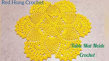 #Table Mat Neide Crochet/코바늘 네이드 테이블 매트