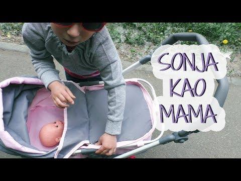 Velika KOLICA za lutke! Sonja KAO MAMA cuva bebu, kupuje hranu u marketu You & Me Baby Doll Stroller