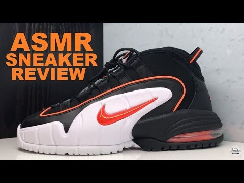 ASMR SNEAKER REVIEW ON NIKE AIR MAX PENNY HALLOWEEN SHOES