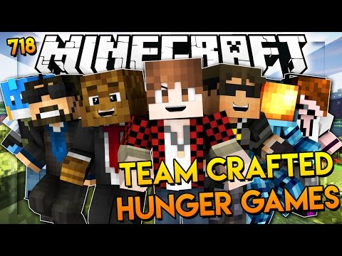 """Minecraft: """"TEAM CRAFTED Cops N' Robbers?!"""" Hunger Games 718"""