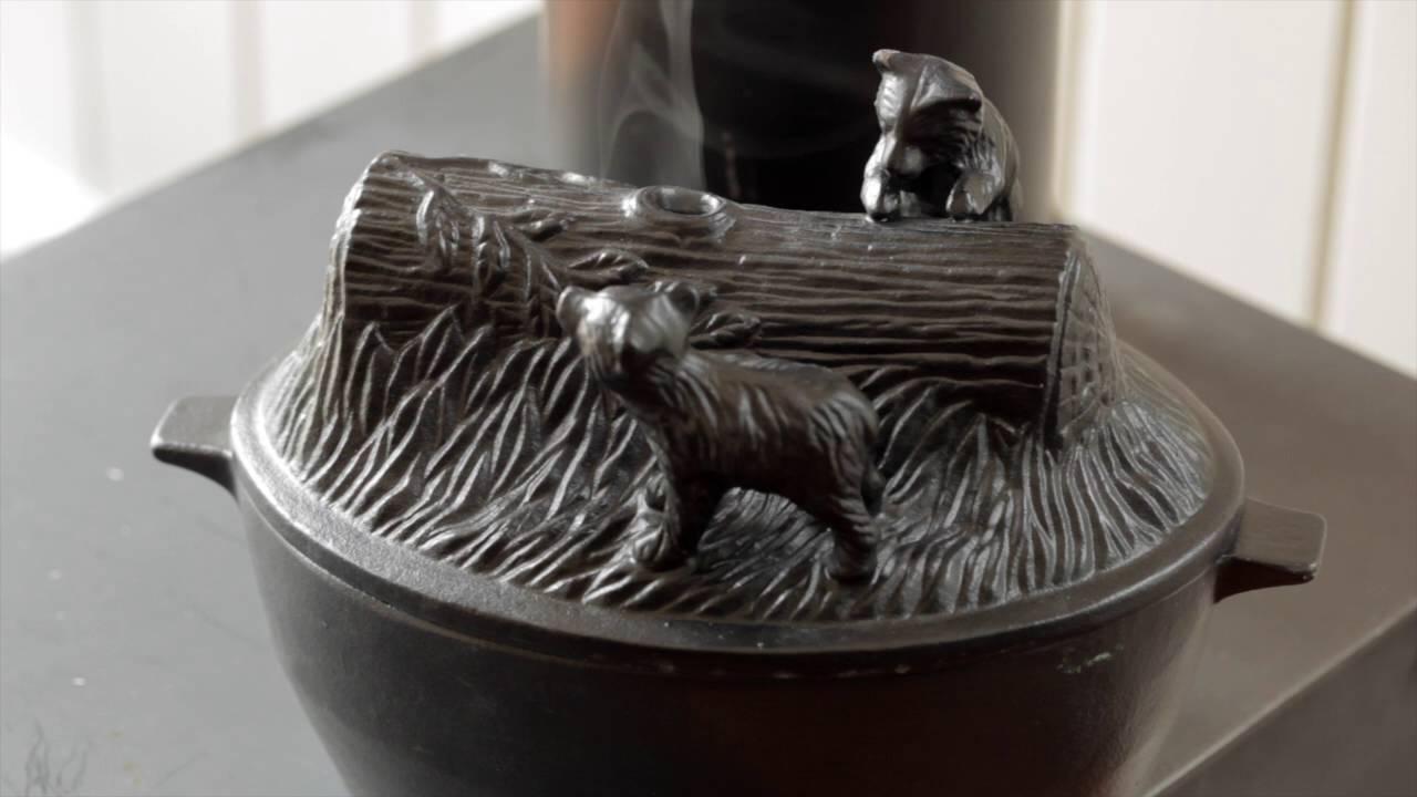 Cast Iron Bear Cub Wood Stove Steamer Sku 12237 Plow