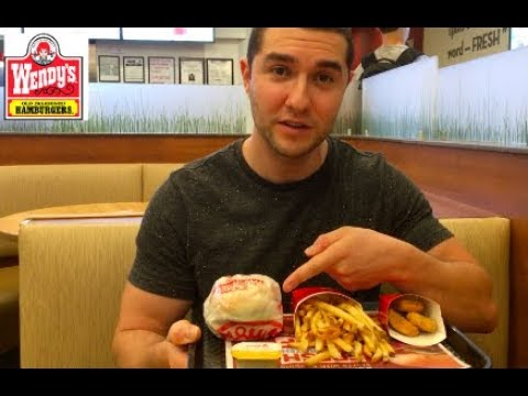Wendys new 5 dollar GIANT Junior Bacon Cheeseburger Meal.