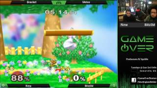 Game Over X - Rime (Peach) vs BlitzSM (Fox) - SSBM
