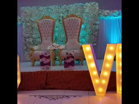 top-table-wedding-set-up,-wedding-decorations,-throne-chair,-glass-sweetheart-table,-led-dance-floor