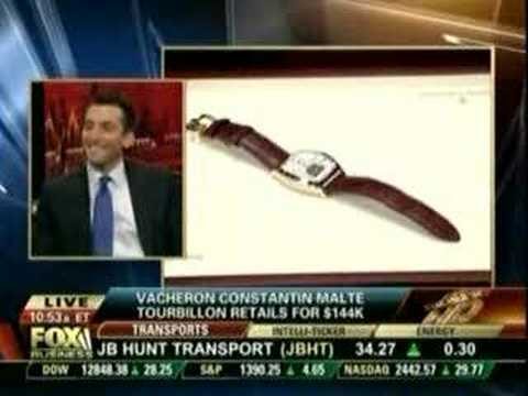 Jeremy Abelson on Fox Business News dsicussing watches