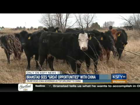 Branstad ready to increase American trade with China 2/6/17 KSFY