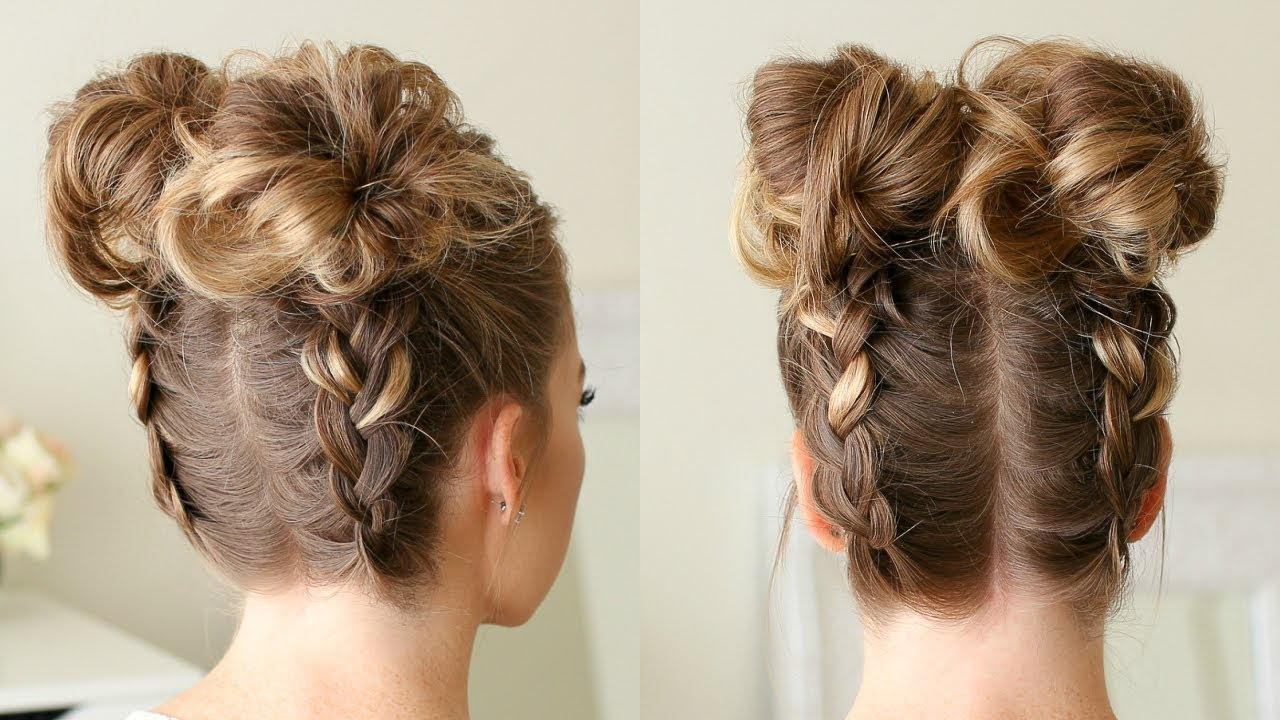 Double Dutch Braid High Buns Missy Sue Youtube