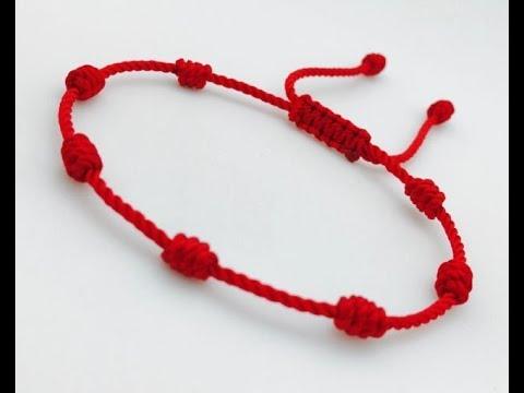 aca04b8e21c7 Pulsera roja de 7 nudos