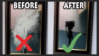 how to clean mirror at home?