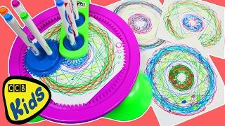 Magic Cra-Z-Spiro Girando o marcador Playset Divertimento \u0026 arte espiral fácil por Cra-Z-Arte! | CCB