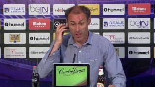 Rueda de prensa de López tras el Real Valladolid (1-3) RCD Mallorca