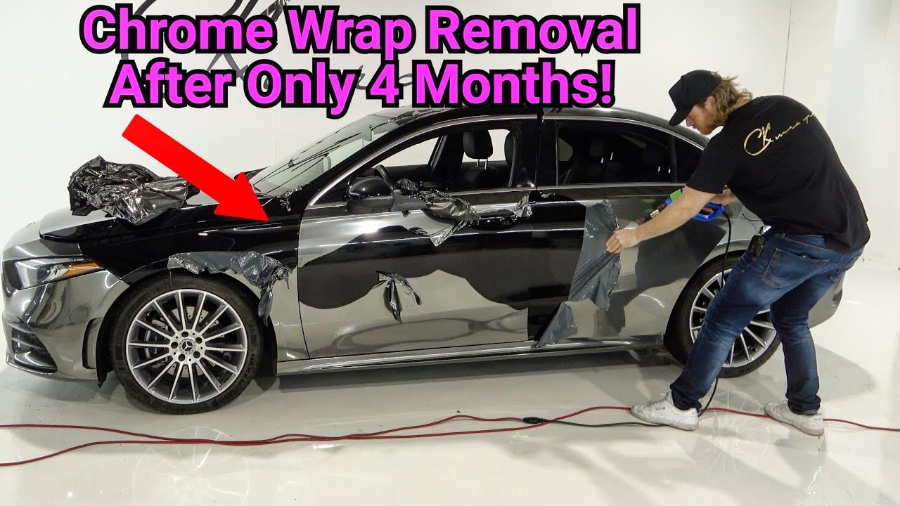 Removing An Entire Chrome Vinyl Wrap After Only 4 Months!