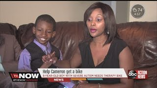 Boy with severe autism needs therapy bike #thenowtampabay
