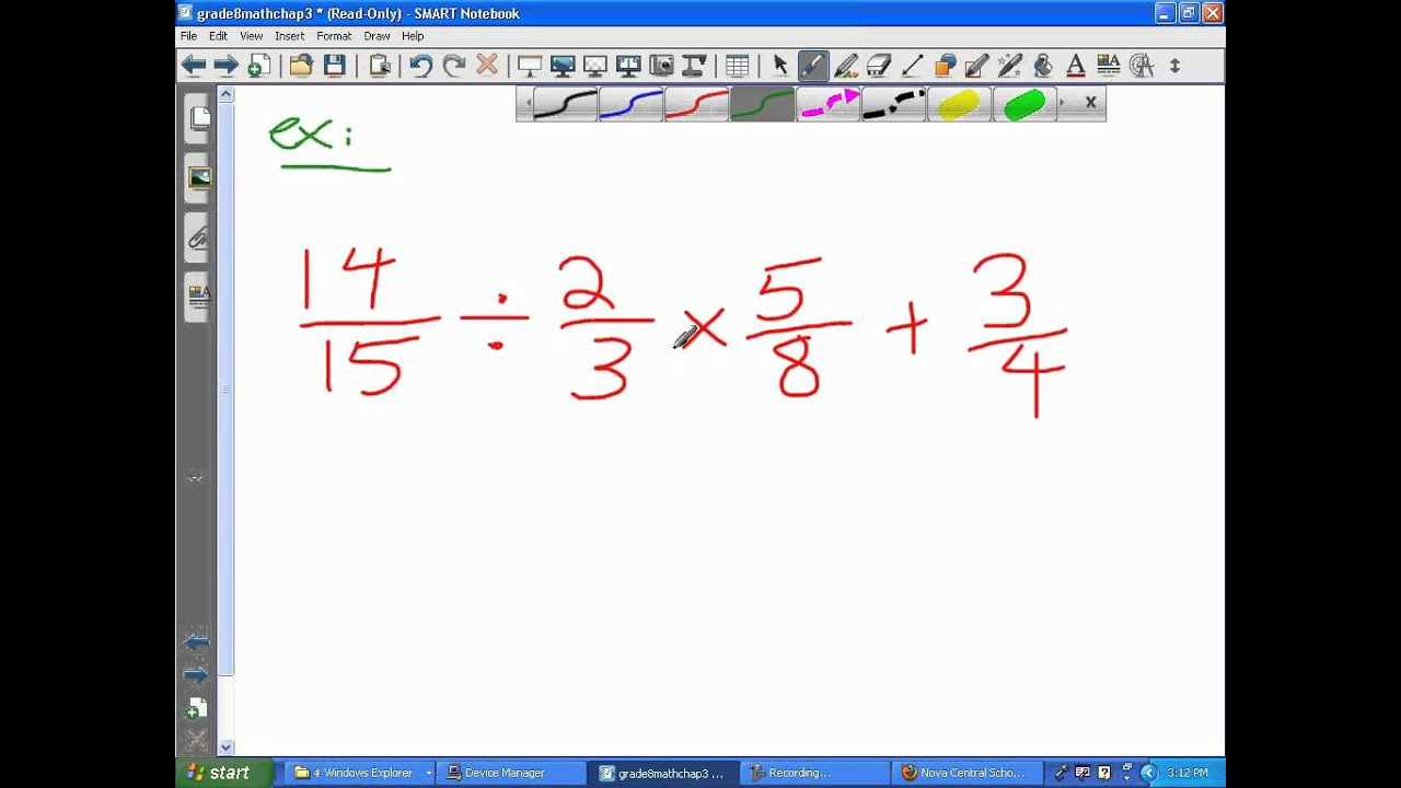 Part 5 5 Bedmas Order Of Operations With Fractions
