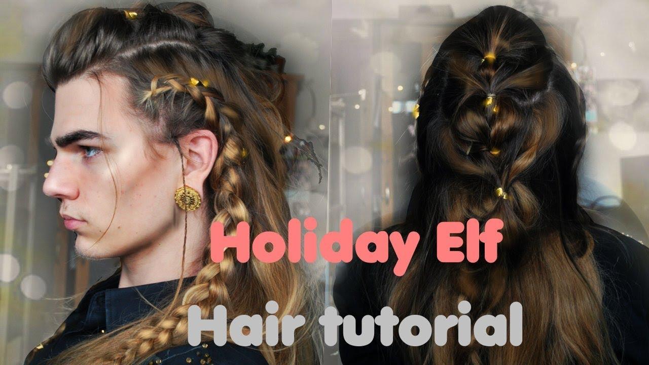 Christmas Elf Braided Hairdo Tutorial