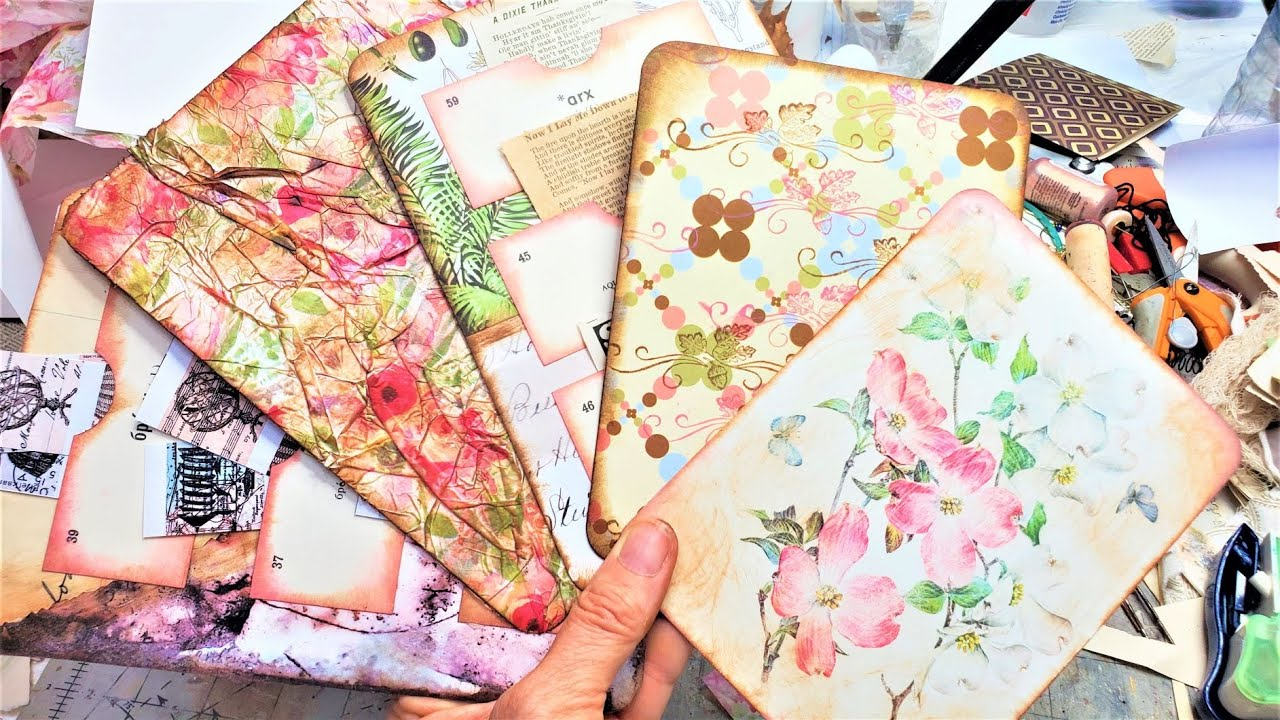 How to Make Journals Cards Out Of Greeting Cards for Your Junk Journals! Easy Tutorial Paper Outpost