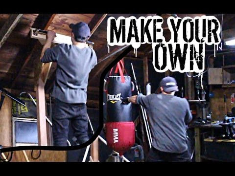 Make Your Own Stand Alone Heavy Bag Pull Up Station Feat You