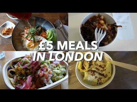 Cheap Eats in London 💸🍝   Five £5 Meals