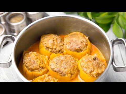 ФАРШИРОВАННЫЙ ПЕРЕЦ - Самый БЫСТРЫЙ способ как приготовить Перец фаршированный с Мясом и Рисом