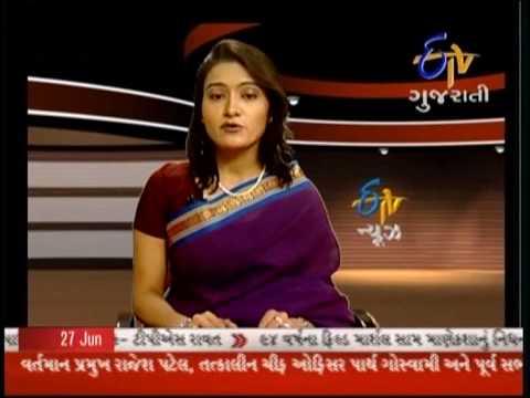 Geeta Mehta Live Newsreading on Etv Gujarati