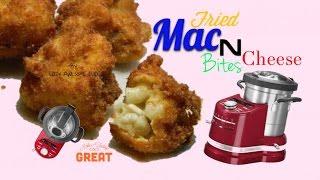 How to Cook Fried Macaroni Mac N Cheese Balls Bites - KitchenAid cook processor Slicer
