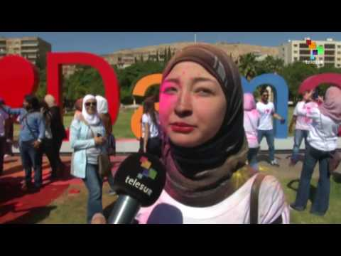 Syrian Youth March for Peace in Damascus