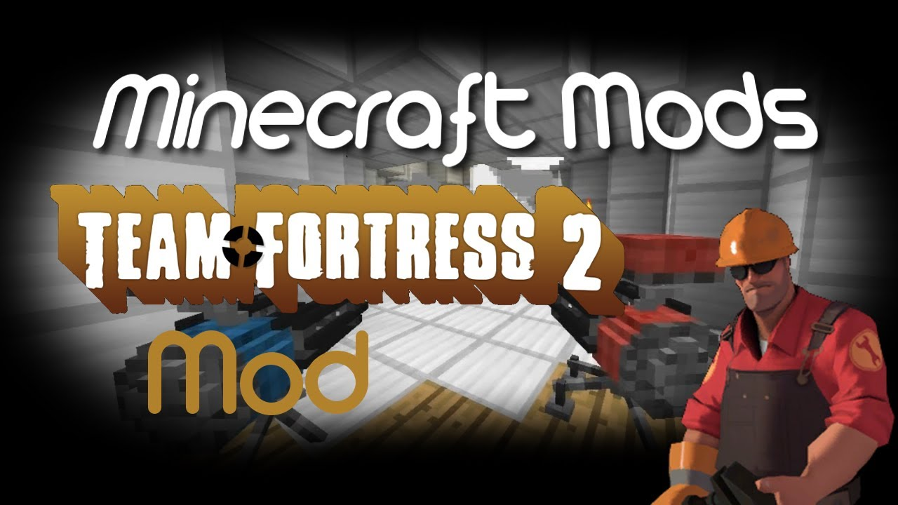 Minecraft Mods: Team Fortress 2 Mod! Sentry Guns, Teleporters & Dispensers!