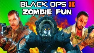 Repeat youtube video Black Ops 2 Origins Zombies Funny Moments - Robots, Shield, Secret Portal, Tank, Drone Quadrotor