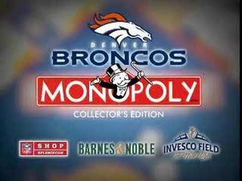 Denver Broncos Monopoly Promo