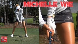 MICHELLE WIE 2017/2018 (HANDS THRU IMPACT) SLOW MOTION FACE ON DRIVER GOLF SWING