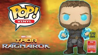 Funko Pop! Thor Ragnarok: Thor With Odin's Force Glow In The Dark SDCC 2018 Exclusive Unboxing