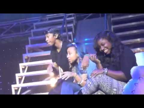 OMG Girlz on Stage with Mindless Behavior