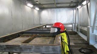 Обработка металла дробеструйкой. Metal processing abrasive.(Очень эффективный метод обработки металла. Очищает изделие от ржавчины и грязи. Снимает напряжения металла..., 2015-08-22T17:26:42.000Z)