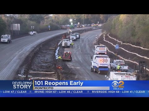 Drivers Expected To Get Back On Reopened 101 Freeway