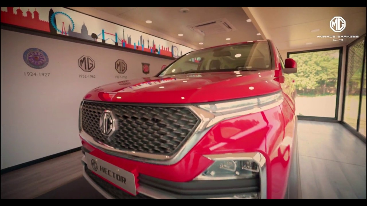 MG Hector showroom on wheels