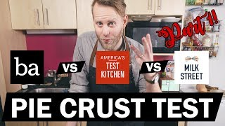 🥧 Pie Crust 3 Ways 1/2  - Bon Appetit vs America's Test Kitchen vs Milk Street - Explorers Kitchen