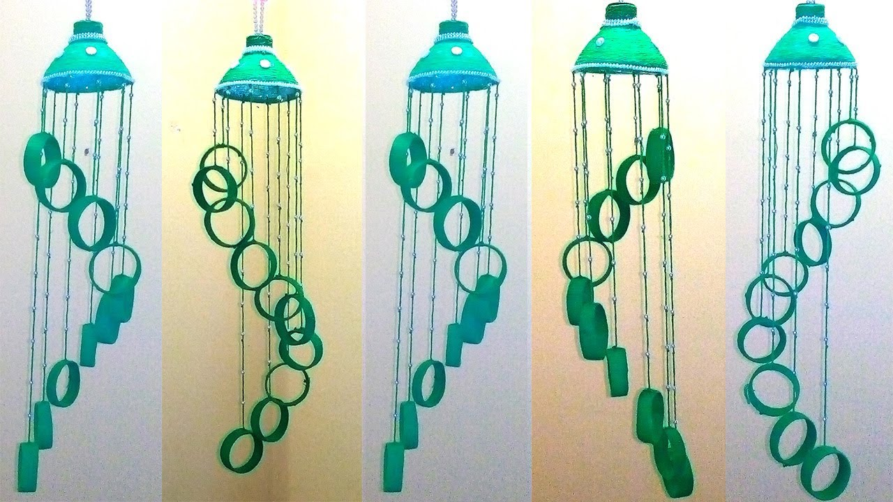 empty plastic bottle wind chime recycled bottle wind