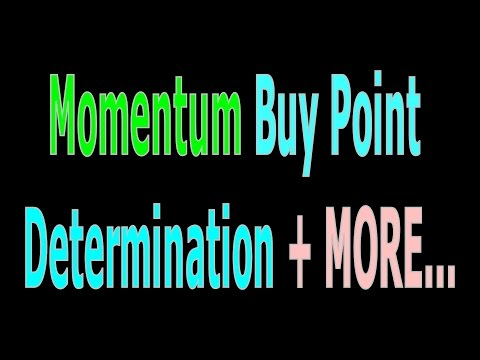 [ Mentorship ] Momentum Buy Point Determination + MORE...